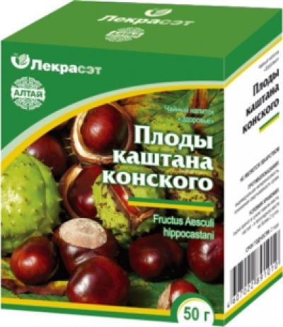 Настойка плодов конского каштана в домашних условиях